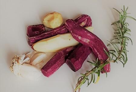 sbucciate con aglio e rosmarino